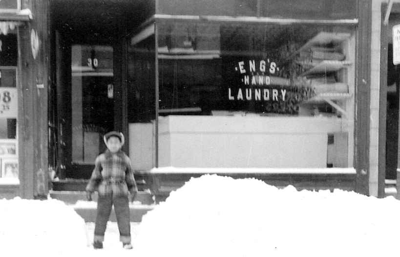 Eng's Hand Laundry - Snow storm, Jane's brother