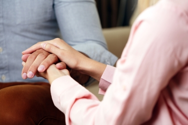 photo of hands holding