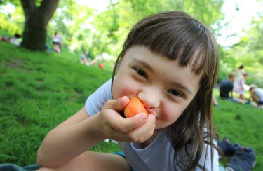 photo of special needs girl in park