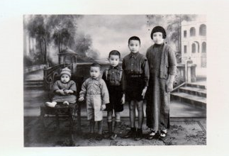 Black and white photo of Regina's maternal family