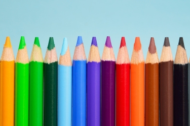 photo of color pencils
