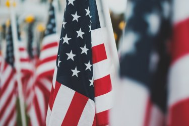Photo of USA flags